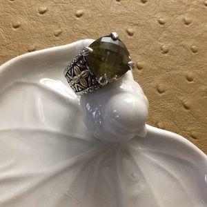 Barbara Bixby olive quartz ring